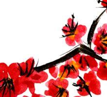 Pink flowers of cherry Sticker