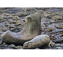 Giants Shoe at the Giants Causeway Photographic Print