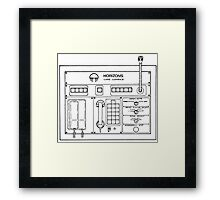 Horizons Load Console Control Panel Diagram from Epcot Framed Print