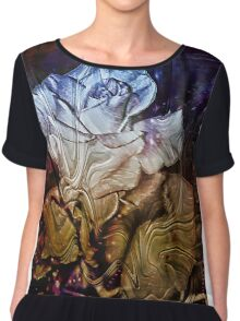 Metalic Rose Chiffon Top