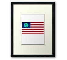 Earthican Flag Framed Print