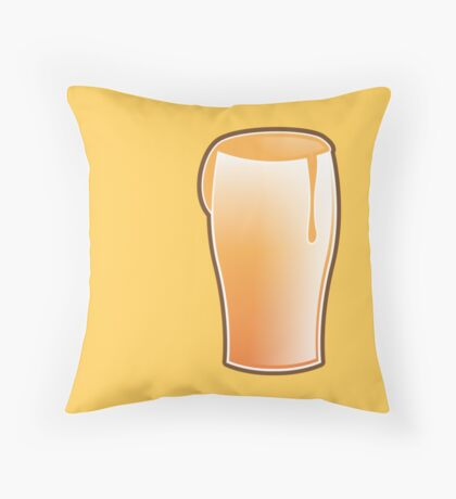 Beer drink glass Throw Pillow