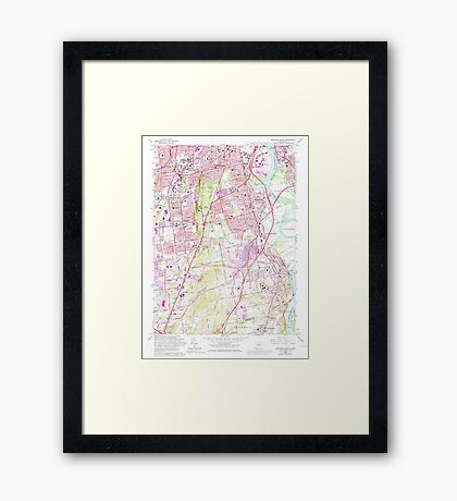 USGS TOPO Map Connecticut CT Hartford South 461331 1964 24000 Framed Print