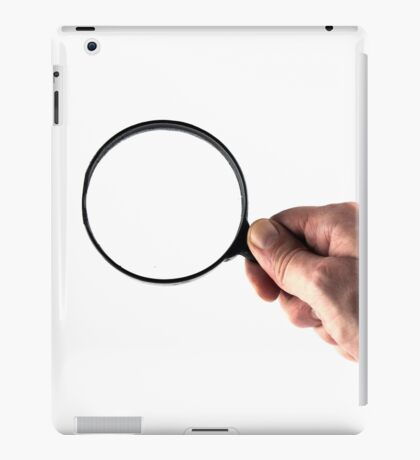 hand and magnifying glass  iPad Case/Skin