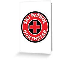NORTHSTAR CALIFORNIA Skiing Ski Patrol Round Mountain Art Greeting Card