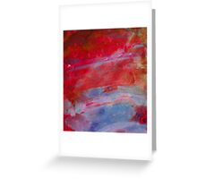 Sunset,  Fire Opal, Non Objective colourful art Greeting Card