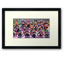 Colorful Ribbon Dolls in Cabo San Lucas, Mexico  Framed Print