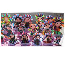 Colorful Ribbon Dolls in Cabo San Lucas, Mexico  Poster
