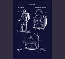 Antique Backpack blueprint drawing  Unisex T-Shirt