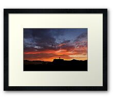Sunrise over Door Trail. Framed Print