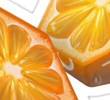 Diced Orange Sticker