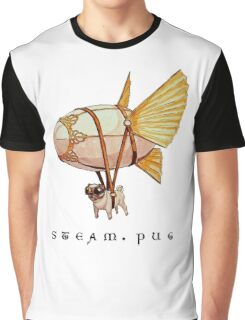 Steam Pug Graphic T-Shirt
