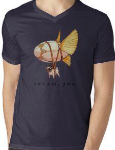 Steam Pug Mens V-Neck T-Shirt