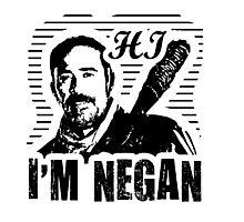 """Hi, I'm Negan""  The Walking Dead Graphic (unofficial) Photographic Print"