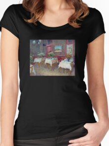 'Interior of a Restaurant' by Vincent Van Gogh (Reproduction) Women's Fitted Scoop T-Shirt