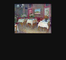 'Interior of a Restaurant' by Vincent Van Gogh (Reproduction) Womens Fitted T-Shirt
