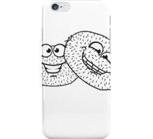 friends team few kiwi fruit eat comic cartoon funny grin hairy face iPhone Case/Skin
