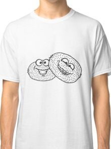 friends team few kiwi fruit eat comic cartoon funny grin hairy face Classic T-Shirt