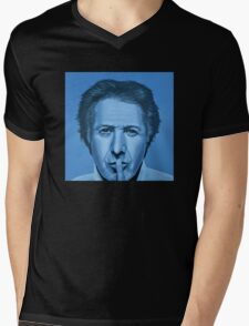 Dustin Hoffman Painting Mens V-Neck T-Shirt