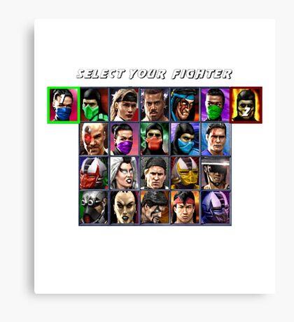 Ultimate Mortal Kombat 3 Character Select Canvas Print