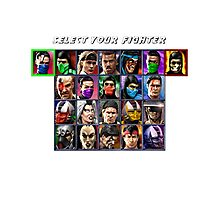 Ultimate Mortal Kombat 3 Character Select Photographic Print