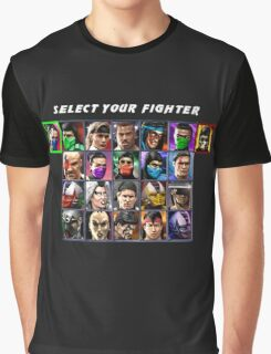 Ultimate Mortal Kombat 3 Character Select Graphic T-Shirt