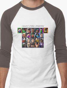 Ultimate Mortal Kombat 3 Character Select Men's Baseball ¾ T-Shirt