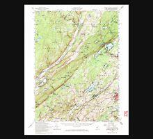 USGS TOPO Map New Jersey NJ Dingmans Ferry 255163 1954 62500 Unisex T-Shirt