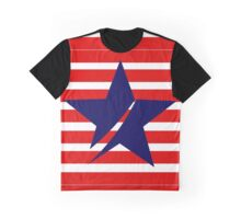 Blue Star Red Stripes Graphic T-Shirt