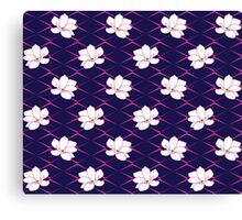Takasaki Magnolia - Navy & Pink Canvas Print