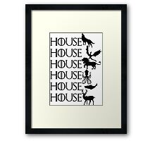 Game of Thrones - House Framed Print