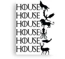 Game of Thrones - House Canvas Print