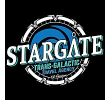 Stargate - Trans-galactic travel agency - blue Photographic Print