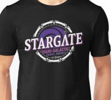 Stargate - Trans-galactic travel agency - purple Unisex T-Shirt