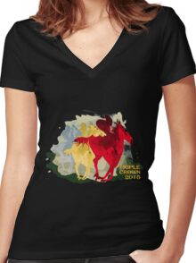 Triple Crown 2015 Women's Fitted V-Neck T-Shirt