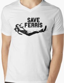 Save Ferris - Ferris Bueller's Day Off Mens V-Neck T-Shirt