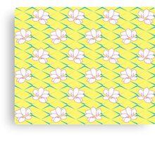 Takasaki Magnolia - Lemon & Blue & Pink Canvas Print