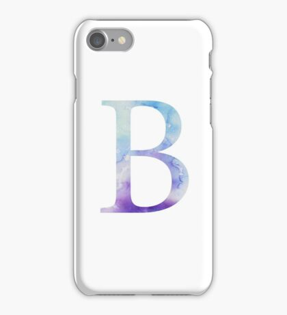 Beta Blue Watercolor Letter iPhone Case/Skin