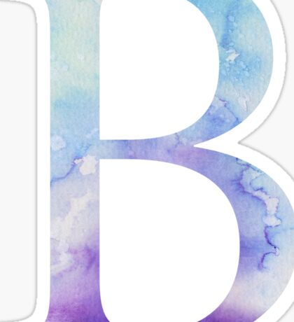 Beta Blue Watercolor Letter Sticker