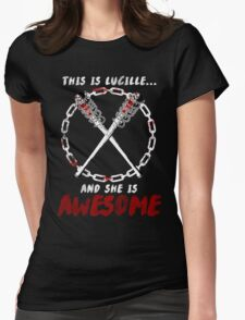 Lucille = Awesome Womens Fitted T-Shirt