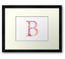 Beta Pink Watercolor Letter Framed Print