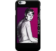Josephine Baker Portrait in plum pink iPhone Case/Skin