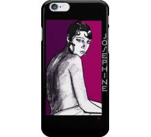 Josephine Baker Portrait in plum pink iPhone Case/Skin