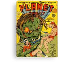 Planet Comics Canvas Print