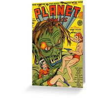 Planet Comics Greeting Card
