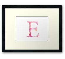 Epsilon Pink Watercolor  Letter Framed Print