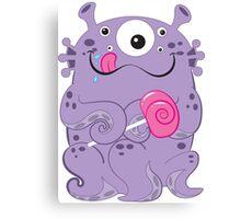Sea Monsters Love Lollipops Canvas Print