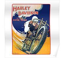 HARLEY DAVIDSON VINTAGE ART Poster