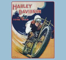 HARLEY DAVIDSON VINTAGE ART One Piece - Short Sleeve