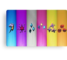 Mane Six Cutie Marks (My Little Pony) Metal Edition Metal Print